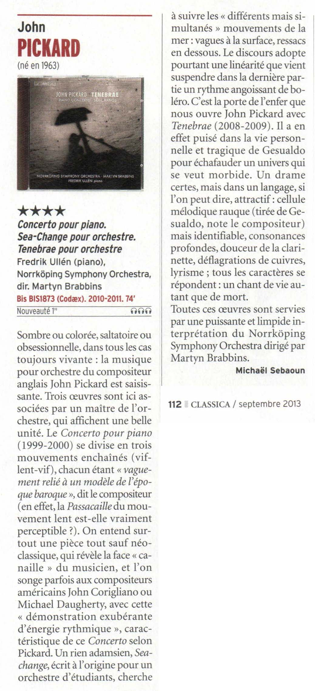 Classica review of BIS CD